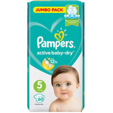 Pampers Active Baby-Dry 5 Подгузники (11-16 кг) 60 шт